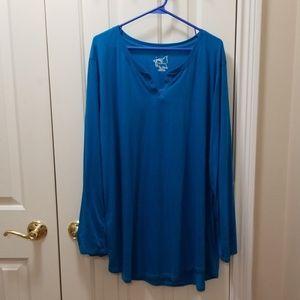 Just My Size blue shirt sz 3X (22/24W)
